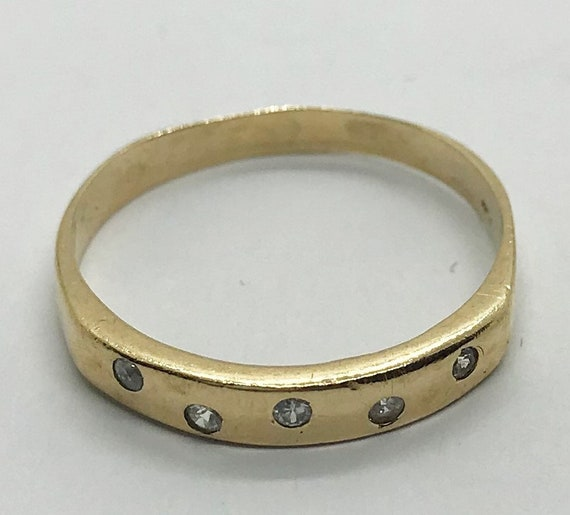 Antique 9ct Yellow Solid Gold Ladies Dress Ring with spinels