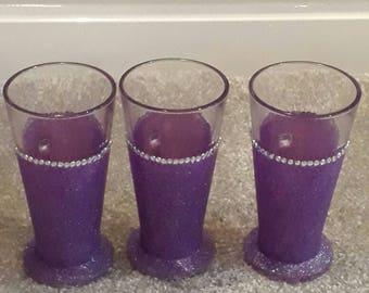 Glittered and diamante latte cups