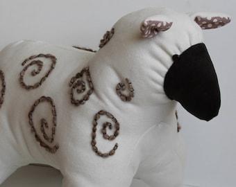 Stuffed Sheep Pattern, PDF Pattern for Imogen Sheep, Downloadable Sheep Pattern