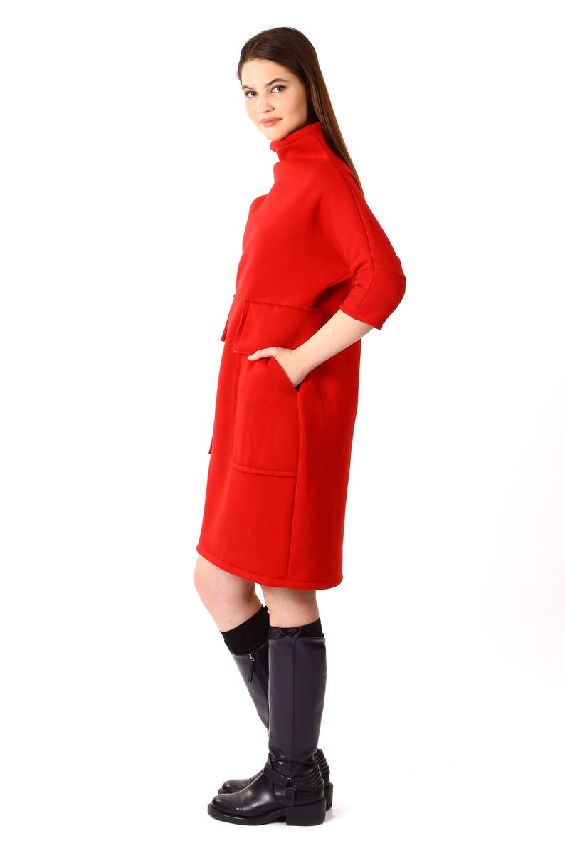 Red Loose Tunic/Oversize Red Dress/Red Maxi Dress/Long Sleeve   Etsy