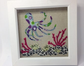 Applique picture free motion embroidery picture octopus picture