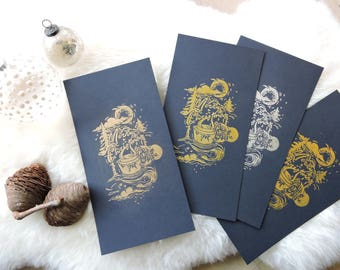 Gold Christmas card letter to offer