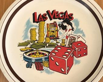 Vintage Las Vegas Plate