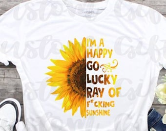 52296cc11 Happy go lucky ray of sunshine Sublimation Transfer/Ready to Press