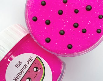 Pink Watermelon Sorbet - Scented Neon Pink Sizzely Icee Slime *UK SELLER*