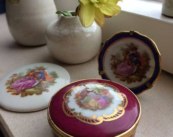 3 Items Fragonard Porcelain