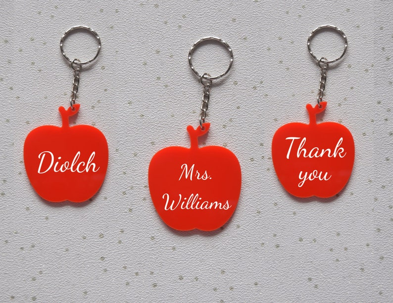 Teaching Assistant Personalised Teacher Heart Nursery School Keyring Gift