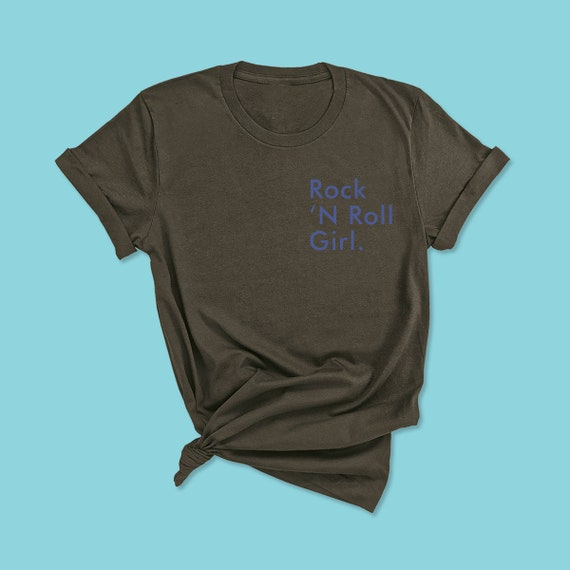 ROCK N ROLL Girl TShirt, Sister In Law Gift, Unique Gifts For Sisters, Classic Rock Shirt, Rock N Roll Clothing, Sister Gift Ideas