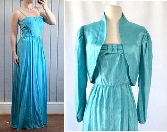0b58321e60a0 1950s Tiffany Blue Bridesmaid Dress with Jacket
