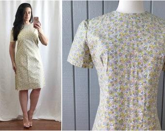 9c6575de FINAL SALE | 1960s Floral Summer Dress | Cotton Summer Dress | 1960s  Vintage Dress | 60s Retro Clothing | Vintage Clothing
