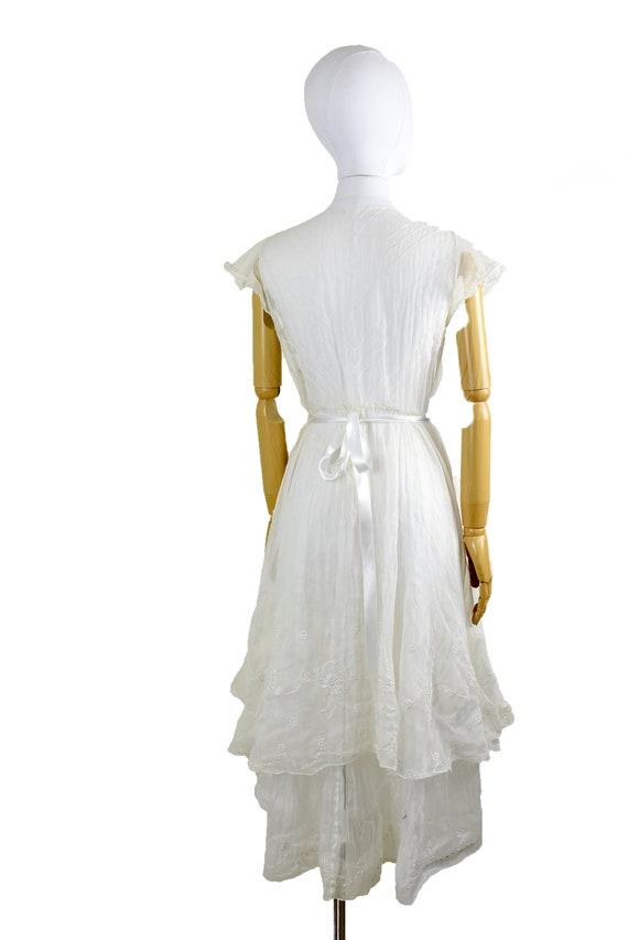 1930s sheer organza dress | winter white dress | … - image 4