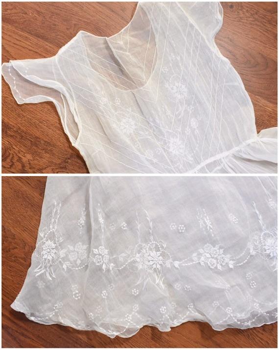 1930s sheer organza dress | winter white dress | … - image 7