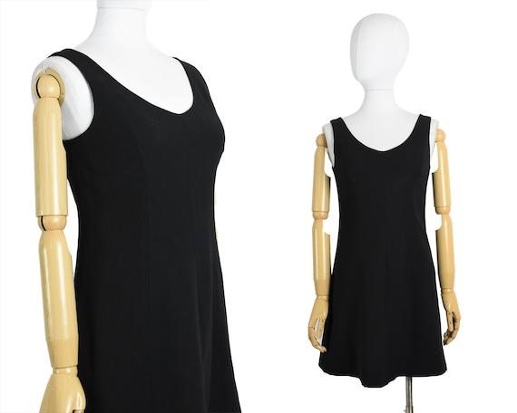 1990s black mini dress | 1990s vintage clothing wo