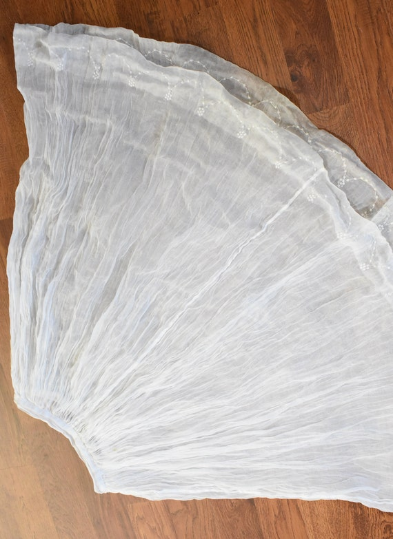1930s sheer organza dress | winter white dress | … - image 6