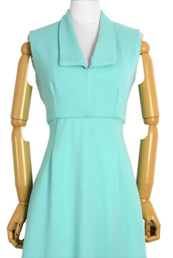 1970s aqua cut out back maxi dress and bolero set… - image 3