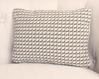 Designer Horse Houndstooth 12x16 lumbar pillow