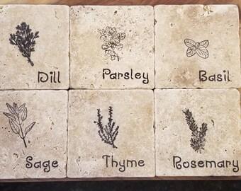 Herb Stone Coasters