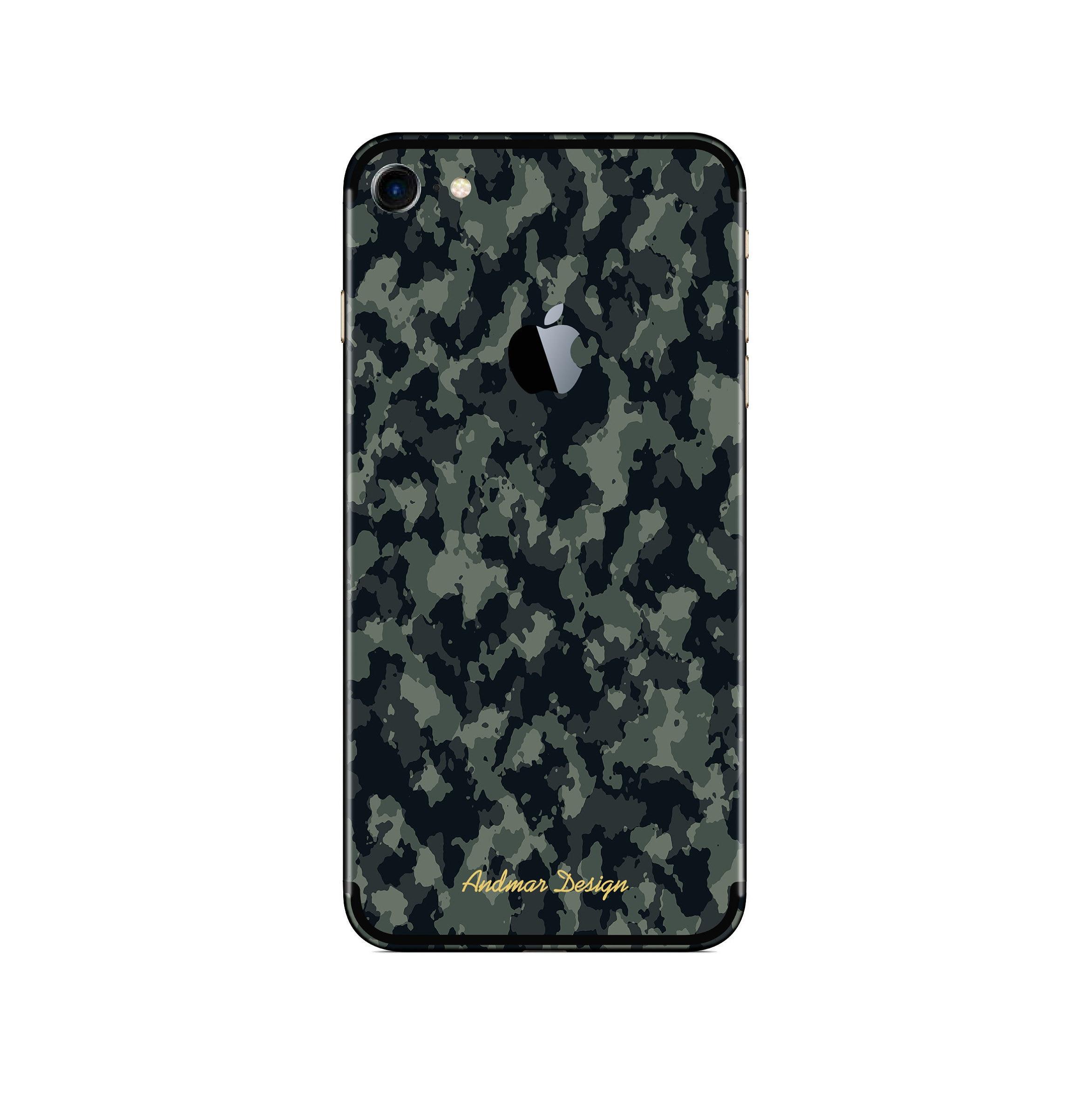 big sale 0429f 5d95d Camo Camouflage Black Green Grey iPhone Skin Decal Iphone 6 6S 7 PLUS 7 8  iPhone X PLUS Iphone Skin Cover Sticker Decal Phone Sticker