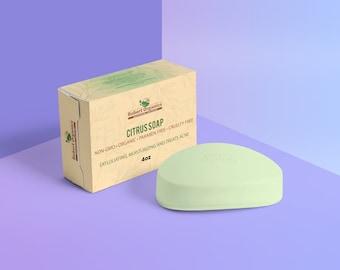 Rubert Organics - Citrus Soap - Organic - Exfoliating - Moisturizing - 4oz