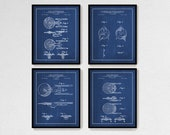 Star Trek Print Set of 4, Star Trek Patent Art Prints, Star Trek Fan Gift, Sci-Fi Wall Decor, Movie Room Decor, Printed or Printable Files