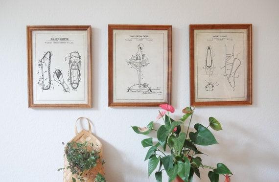 Ballet Print Set, Ballerina Gift, Ballet Wall Art, Ballet Patent Prints, Ballerina Room Decor, Vintage Ballerina Wall Decor, Printed/Digital