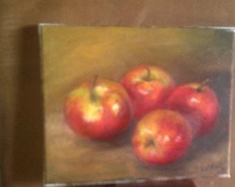 Original Still Life Painting Apples