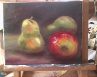 Original Still Life Apple and Pears