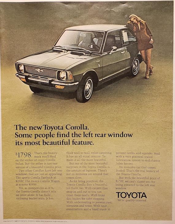 Toyota Autocollant Décalque Rétro classique vintage 1970 s STYLE