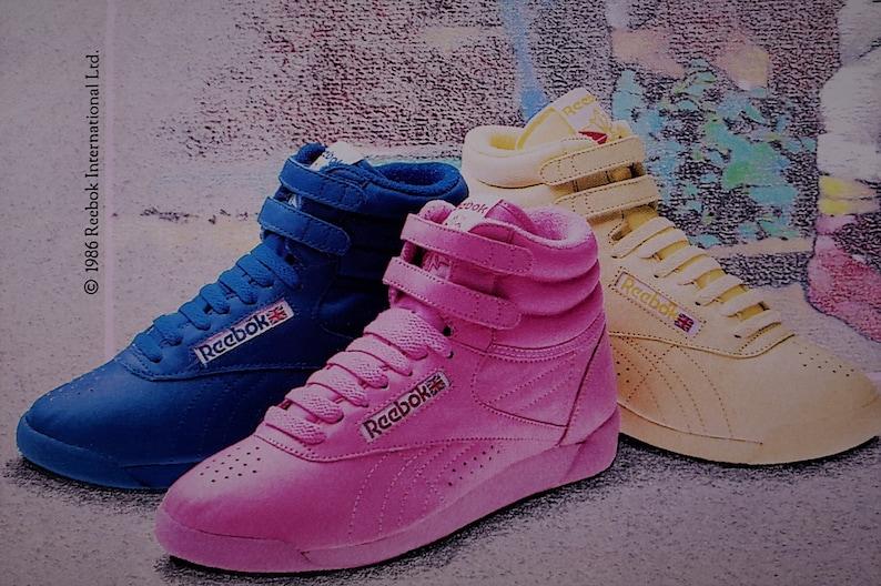 52d004df9 1986 Reebok Freestyle Hi-Top Sneakers Original Print Ad Page | Etsy