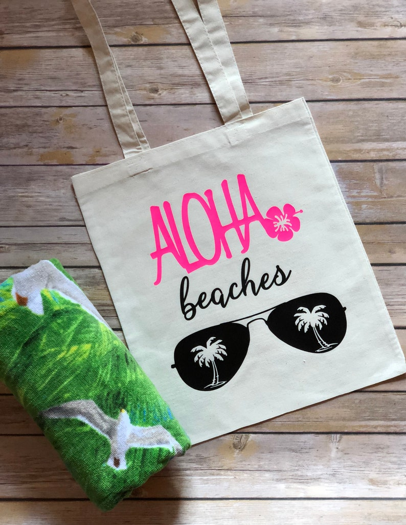 Aloha Beaches Tote Aloha Bachelorette Tote Aloha Tote Bag Aloha Bridal Tote