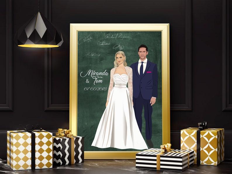 dd51b72b4ce Wedding guest signcanvas guest bookguest book