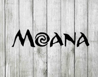 Moana Svg Clipart Cut Files Disneys Movie For Cricut Silhouette Png Dxf Eps