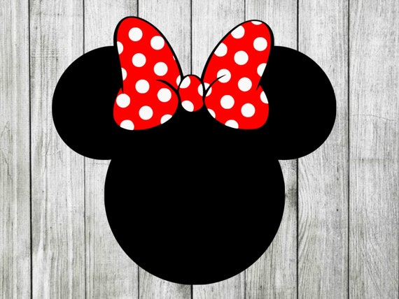 Minnie Mouse Bow Svg Layered Minnie Mouse Svg Disney Svg Etsy