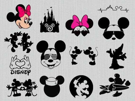 Walt Disney Svg Bundle Mickey Mouse Sunglasses Svg Minnie Etsy