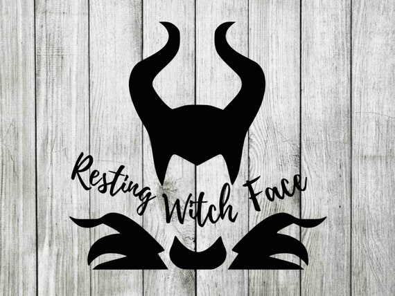 Maleficent Svg Resting Witch Face Svg Disney Witch Svg Cutting Files For Cricut Silhouette Instant Download