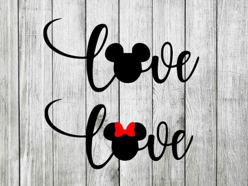Download Disney love svg disney love wording svg minnie love svg | Etsy