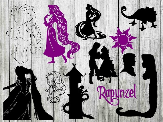 Rapunzel Svg Bundle Disney Svg Tangled Svg Disney Svg Etsy