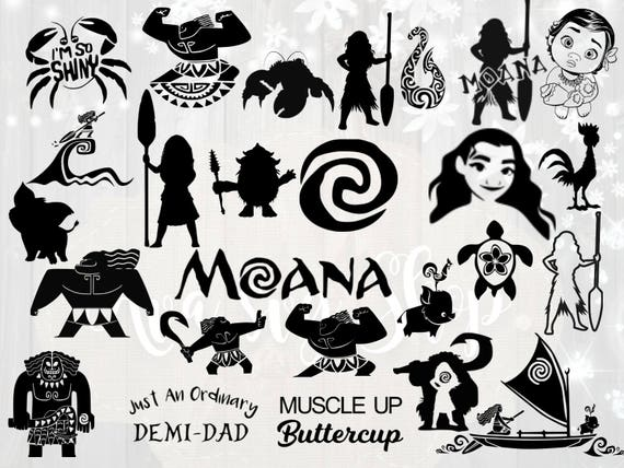 moana svg bundle disney s moana svg cut files moana etsy