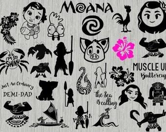 Moana svg bundle, disney svg bundle, moana clipart, cut files for cricut silhouette, disney's moana svg, png, dxf, eps,
