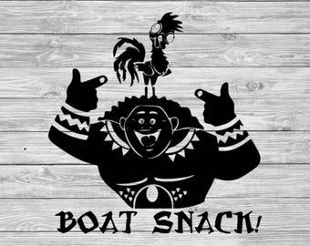 Moana SVG, Maui svg, hei hei svg, boat snack svg, disney svg, hei hei svg, dxf