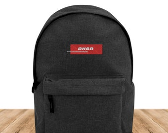 DNSR® Backpack Asphalt Logo RED