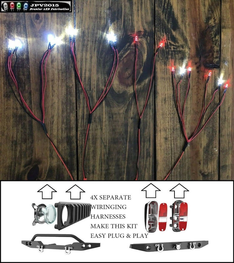 16 leds! Handmade in USA Front /& Rear leds 2019 Redcat led GEN8 SCOUT II rc led Light Kit