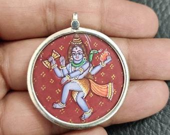 Damru Shiva Pendant Cosmic Trishula Shiva Ling Ganges Trident Hindu God Shiva bholeynath Pendant Necklace Rudra Mahadev Shiv