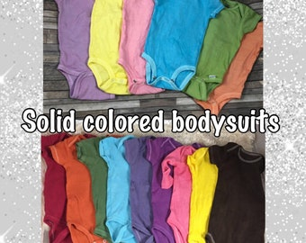 cba876cb1 Bulk order Solid colored bodysuits, 10 pack hand dyed bodysuits, hand dyed  t-shirts, baby child adult t shirts
