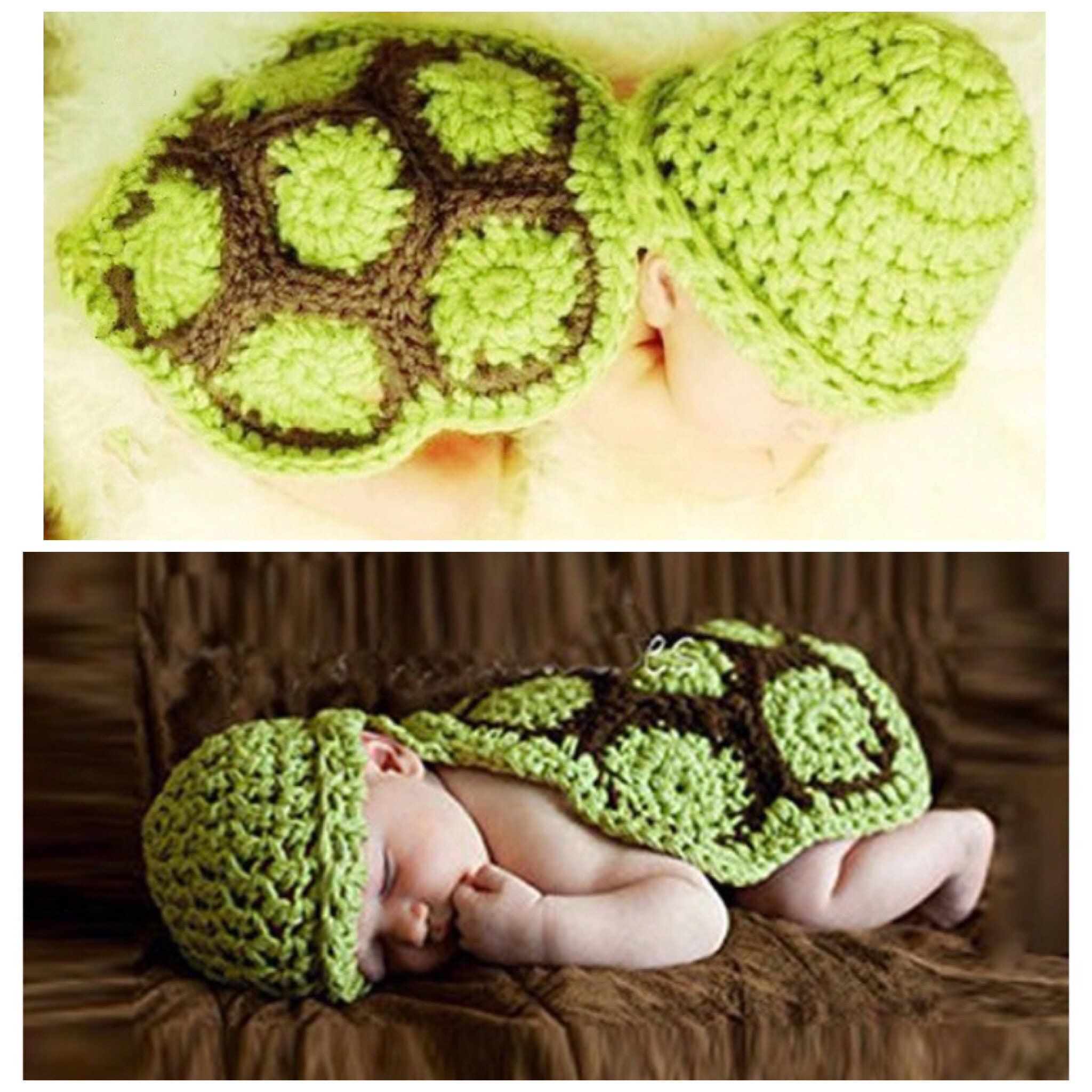 Baby Knit Turtle Outfit Baby Turtle Photo Prop Turtle Costume