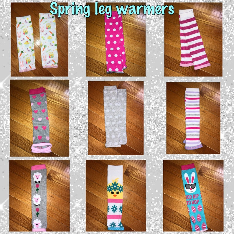 Red Plush Leg Warmers One Size