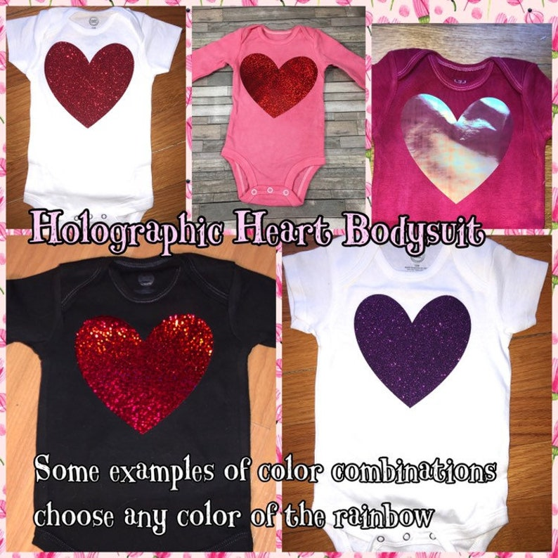 f851068ed2f Heart bodysuit pink bodysuit with red heart holographic