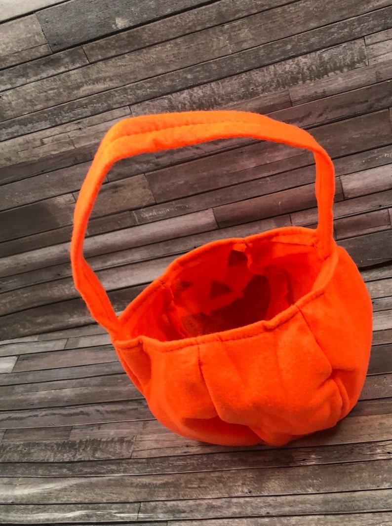 jack o/'lantern bag fabric pumpkin purse trick or treat bag halloween candy bag Personalized pumpkin bag