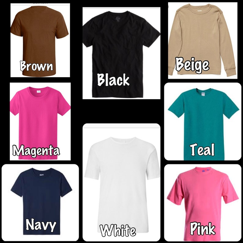 a25a9bbe98f44 solid color t-shirts, every size, short or long sleeve, baby to adult,  colored tee shirts, short sleeve, long sleeve,