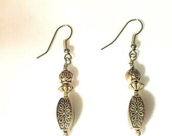 Vintage Bronze Looking Drop Earrings